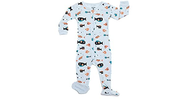 539f07b56b Amazon.com   Leveret Footed Boy Sharks Swimming Pajama Sleeper 100% Cotton ( Size 6M-5T) (3 Toddler