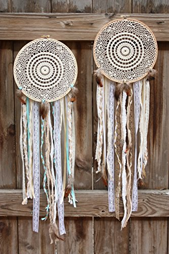 Chrochet Dream Catcher Wall Hanging / Wall Decor / Dreamcatcher / Dream Catchers / Custom Size and Color by Native Path
