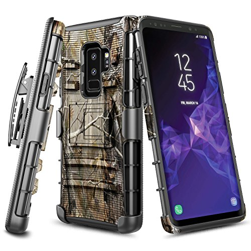 Galaxy S9 Plus Holster Case, NageBee [Heavy Duty] Armor Shock Proof Dual Layer [Swivel Belt Clip] Holster with [Kickstand] Combo Rugged Case For Samsung Galaxy S9 Plus / S9 + (Camouflage)