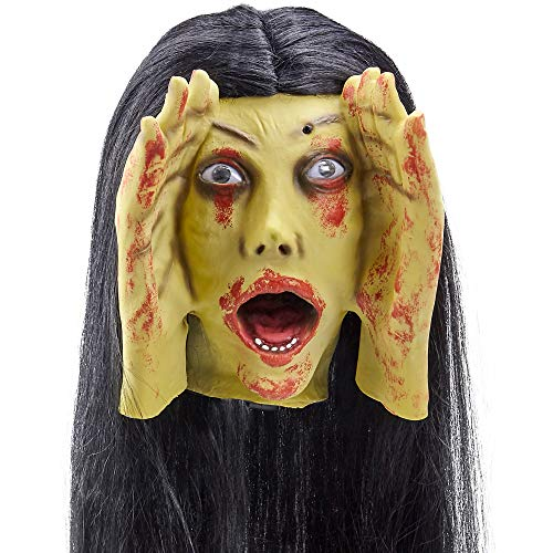 Scary Peeper Screaming Banshee Haunted House Halloween Decoration and Prop– Motion Activated, Screams -