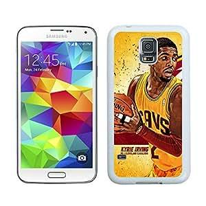 New Custom Design Cover Case For Samsung Galaxy S5 I9600 G900a G900v G900p G900t G900w Cleveland Cavaliers kyrie Irving 1 White Phone Case