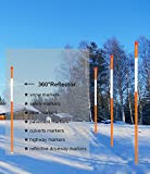 FiberMarker Driveway Markers 24-Inch Orange 50-Pack 1/4-Inch Dia Snow Poles Snow Markers Snow Stakes