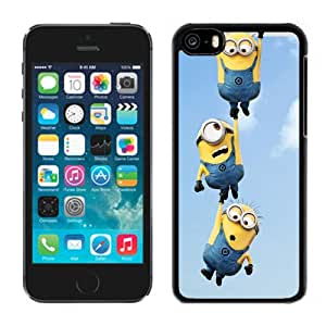 New Pupular And Unique Designed Case For iPhone 5C With 2013 Despicable Me 2 Minions Black Phone Case