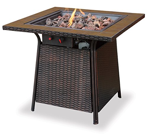 (Endless Summer, GAD1001B, LP Gas Outdoor Firebowl with Tile Mantel)