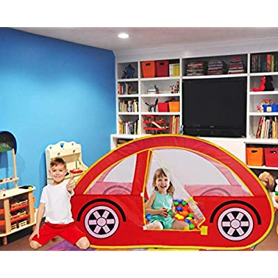 Play Kreative Car Popup Tent – Red Racing car - Pretend Vehicle Kids Play House and Carry Case. for Outdoor/Indoor Child Playtime Activities. Great Birthday Gift for Children: Toys & Games