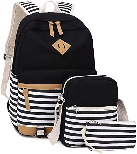 BLUBOON Bookbags Backpack Schoolbags stripe 3pcs product image