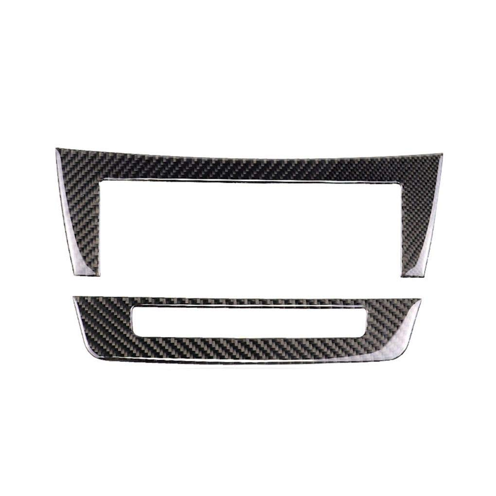 Zerama Carbon Fiber Multimedia Central Control Panel Cover Trim Replacement for Mercedes W204 C Class 2010-2013