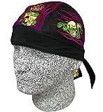 Snake Eyes Flame Black Doo Rag Headwrap Skull Cap Durag Biker Sweatband
