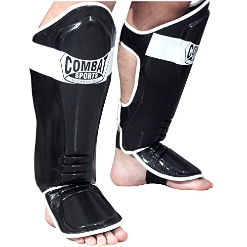 Ringside Combat Sports MMA Kickboxing Shin Guards, Black, Large