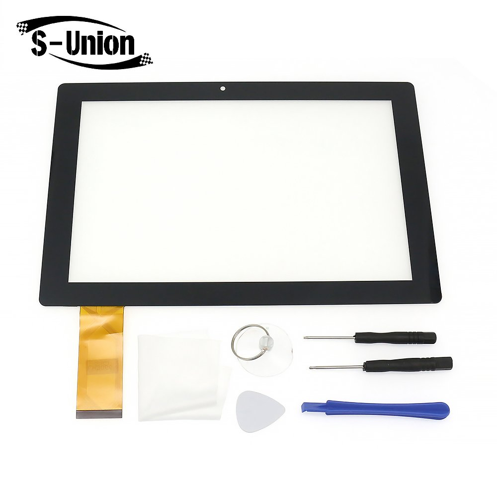 S-Union New Replacement Digitizer Touch Screen Panel for Smartab ST1009X 10.1 Inch Tablet (with set opening tools )