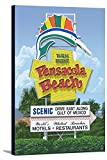 Pensacola Beach, Florida - Sign (16x24 Gallery Wrapped Stretched Canvas)