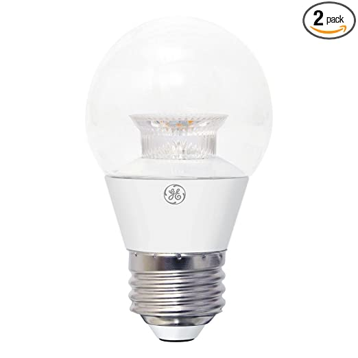 Ge 40w Equivalent Soft White 2700k High Definition A15 Dimmable Led Light Bulb 2 Pack