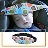ORPIO (LABEL) Baby Car seat Head Support, Car Seat Head Band Strap Headrest, Stroller Car Seat Sleeping Head Support for Toddler Child Children Kids Infant (Blue)