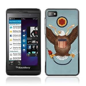 YOYOSHOP [Funny USA Flag] Blackberry Z10 Case