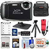 Fujifilm FinePix XP130 Shock & Waterproof Wi-Fi Digital Camera (Silver) with 16GB Card + Battery + Cases + Tripod + Strap + Kit
