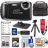Fujifilm FinePix XP130 Shock & Waterproof Wi-Fi Digital Camera (Silver) with 16GB Card + Battery + Cases + Tripod + Strap + Kit