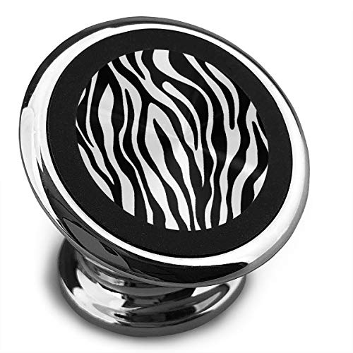VXCBDDX Magnetic Phone Mount, Black and White Zebra Print 360 Rotation Car Phone Holder for Dashboard Cell Phone Cradle Mount Compatible with Smartphone and More