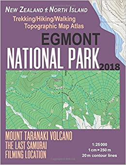 Topographic Map Of New Zealand.Egmont National Park Trekking Hiking Walking Topographic Map Atlas
