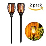 Cheap Solar Lights Outdoor Waterproof Dancing Flickering Flames Torches Lights 96 LED Landscape Decoration Lighting Dusk to Dawn Auto On/Off Solar Security Spotlight for Garden, Patio, Yard, Driveway-2 Pack