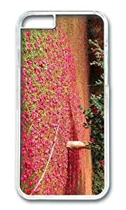MOKSHOP Adorable camellia blooms Hard Case Protective Shell Cell Phone Cover For Apple Iphone 6 (4.7 Inch) - PC Transparent