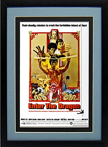 (Bruce Lee Enter the Dragon Movie Poster Framed)