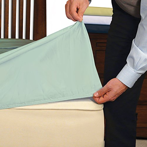 InnoMax Convert-A-Fit Percale Fitted Sheets, Solid, King, Seafoam by INNOMAX (Image #1)