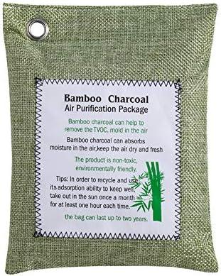 Fxhan Fresh Bamboo Charcoal Odor Eliminator Absorber Bag Freshener Removes Odors Moisture for Home Car