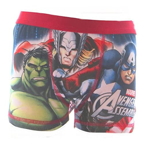 nice The Avengers Big Boys (Red Waistband) Boxer Shorts for cheap