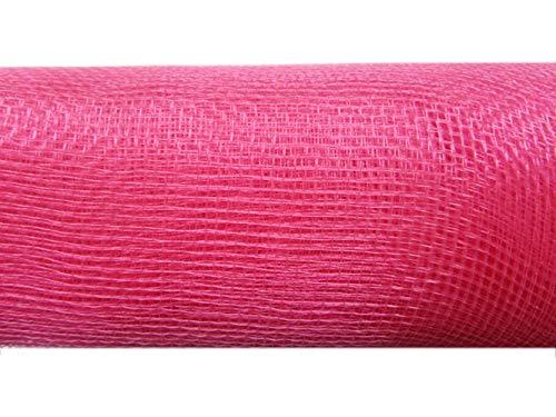 (10 inch x 30 feet(10 Yards)-YYCRAFT Deco Poly Mesh Ribbon(Bubblegum,No Metallic Foil))