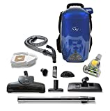 vacuum backpack cleaner - GV BLUE 8 Qt Quart Light Powerful HEPA BackPack Vacuum blower Loaded w 2 yr warranty