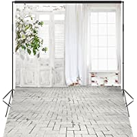 OUYIDA White Curtain Doors And Windows 6X9FT Seamless Pictorial cloth Customized photography Backdrop Background studio prop TA30