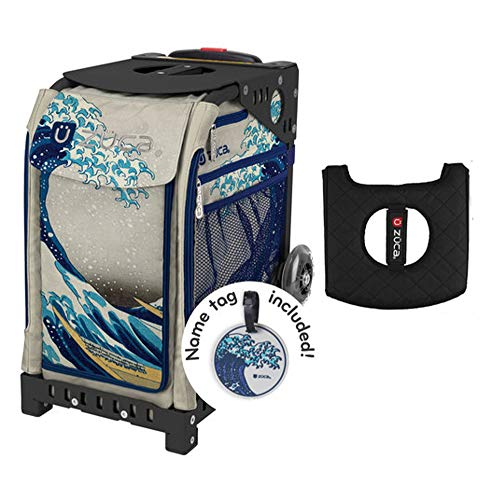 - Z?CA INC Zuca Sport Bag - Great Wave with Gift Black/Pink Seat Cover (Black Frames)
