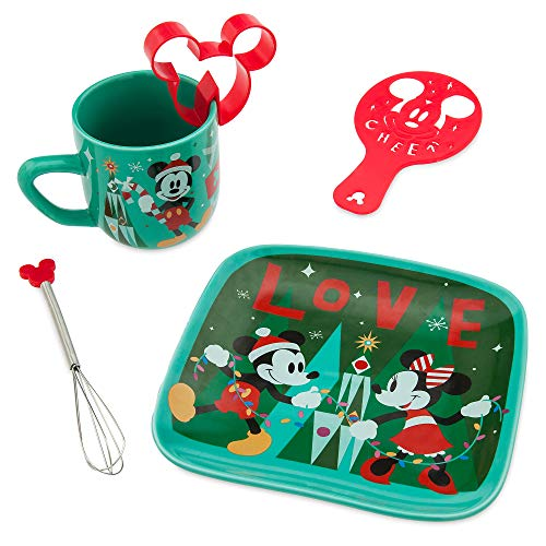 (Disney Santa Mickey and Minnie Mouse Hot Cocoa Gift Set MUTLI)