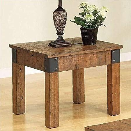 Amazon.com: Coaster Muebles – Mesa auxiliar de madera café ...