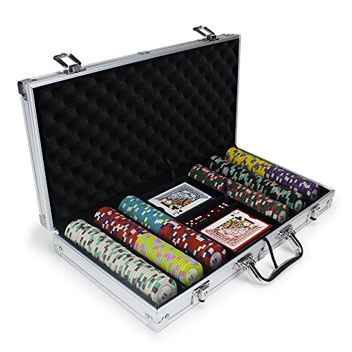 Claysmith Gaming 300ct Poker Knights Poker Chip Set in Aluminum Case, 13.5-Gram Heavyweight Clay Composite (Chip Aluminum 300 Case)