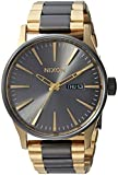 Nixon Men's 'Sentry SS' Quartz Stainless Steel Casual Watch, Color:Gold-Toned (Model: A356)