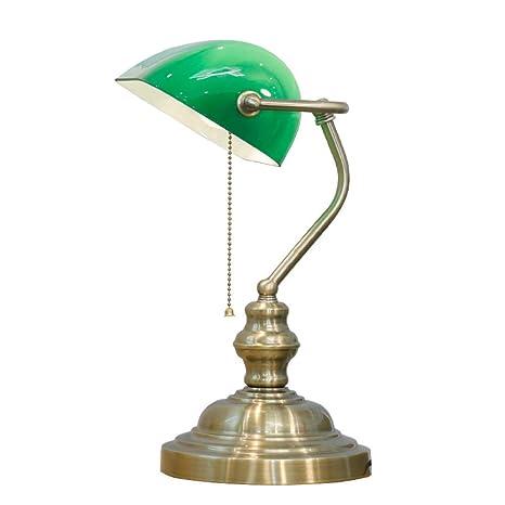 Lampara de mesa Lámpara de mesa de cristal verde europea lámpara ...