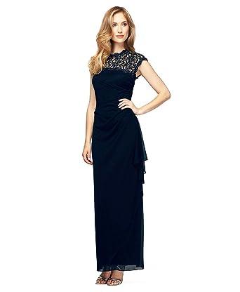 Alex Evenings Plus Size 412388 Dress Size 14 Color Navy At Amazon