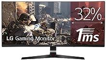 "LG 34UC79G-B - Monitor Gaming UltraWide FHD de 86,7 cm (34"") con panel IPS (2560 x 1080 píxeles, 21:9, 1 ms con MBR, 144Hz, FreeSync, 250 cd/m², 1000:1, NTSC >72%, DP x1, HDMI x2, USB x3) color negro"