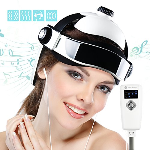 REAQER(ON SALES) Electric Head Massager Multifunctional Massage Helmet With Soothing Music and Air Pressure to Relax and Relieve The Headache