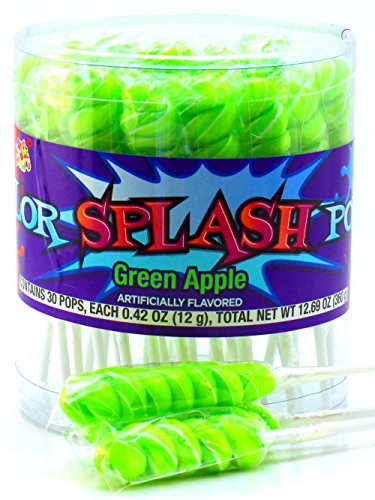 Color Splash Pops, Green Apple Flavor, 30 Count - Green Splash Of