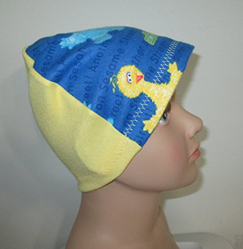 Kids Flannel Sesame Street Big Bird Chemo Hat Alopecia Head Cover Cancer Hat