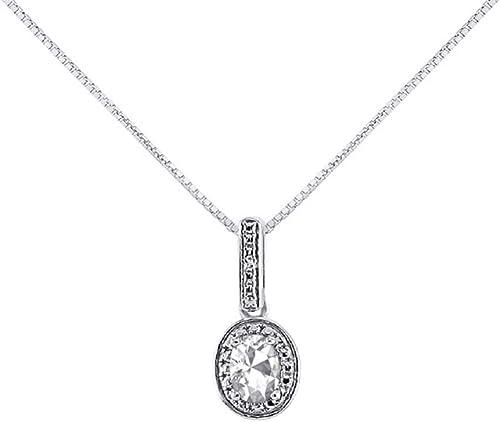 Diamond White Topaz Pendant