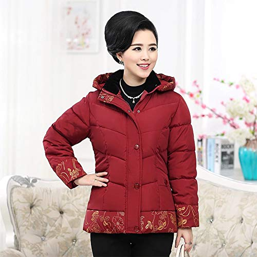 Removable Quilted Puffer Slim Hooded Jacket Winter Womens Red Thicken Outwear Coat Short Jacket Down KINDOYO RgwPCq8xn