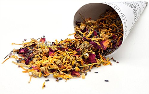 (Country Meadow Flower Wedding Confetti: 5 Blend ~ 8 oz ~ Enough for 30-35 Guests ~ Calendula, Chamomile, Lavender, Rose, Cornflowers~)