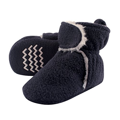 Hudson Baby Baby Cozy Sherpa Booties with Non Skid Bottom, Navy, 18-24 Months from Hudson baby