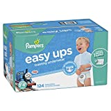 #4: Pampers Easy Ups Training Pants Pull On Disposable Diapers for Boys, Size 5 (3T-4T), 124 Count, ONE MONTH SUPPLY