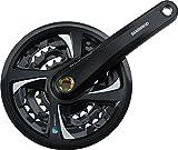 Shimano Tourney Mountain Bicycle Crank Set - FC-TX801 (Black - 175MM, 42X32X22T, w/ Chain Guard)