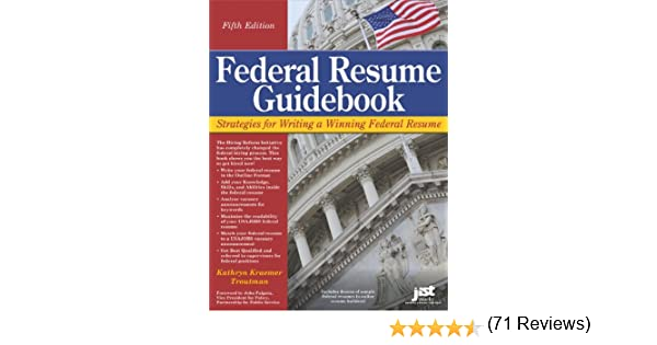 amazon com federal resume guidebook federal resume guidebook