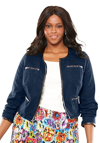 Jessica-London-Womens-Plus-Size-Denim-Shrug-With-Faux-Leather-Trim